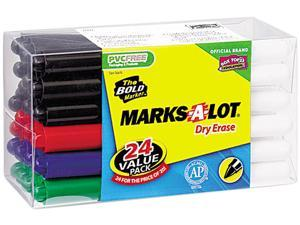 Assorted Avery 29860 MARK A LOT Pen-Style Dry Erase Markers Bullet Tip Set of 24
