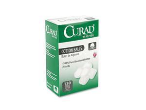 """Curad                                    Sterile Cotton Balls, 1"""", 130/Box"""