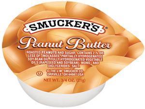 Smucker's 2282 Smucker's Peanut Butter, Single Serving Packs, 3/4 oz, 200/Carton