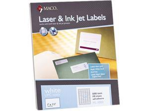 Maco ML-5000 White All-Purpose Labels, 1 x 1-1/2, 5000/Box