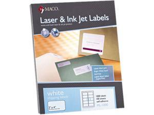 Maco ML-1000 White All-Purpose Labels, 2 x 4, 1000/Box