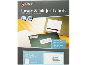 Maco ML-0400 White All-Purpose Labels, 5 1/2 x 4 1/4, 400/Box
