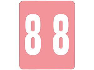 Smead 67498 AM100RN Color-Coded Labels, Number 8, 1-1/2w x 1 -7/8h, Pink, 250 Labels/Roll