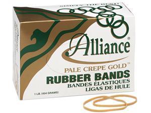 Alliance 20335 Pale Crepe Gold Rubber Bands, Size 33, 3-1/2 x 1/8, 1lb Box