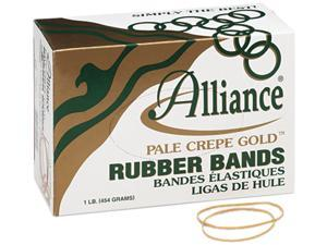 Alliance 20195 Pale Crepe Gold Rubber Bands, Size 19, 3-1/2 x 1/16, 1lb Box