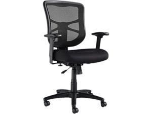 Alera ALEEL42BME10B Alera Elusion Series Mesh Mid-Back Swivel/Tilt Chair, Black