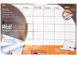 """AT-A-GLANCE AW602028 WallMates Self-Adhesive Dry-Erase Monthly Planning Surface, White, 36"""" x 24"""""""