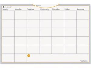 """AT-A-GLANCE AW402028 WallMates Self-Adhesive Dry-Erase Monthly Planning Surface, White, 18"""" x 12"""""""