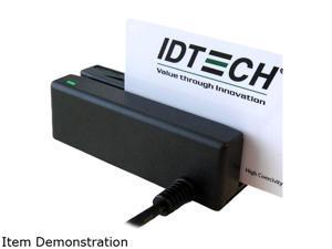 ID TECH IDMB-332133B MiniMag II Card Reader (Black) - RS232, Track 1, 2, 3