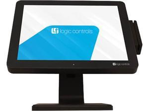 """Logic Controls LE1015-J Black 15"""" USB Projected Capacitive Touch Monitor 15"""" TRUE-FLAT, Projected Capacitive Touch, USB"""