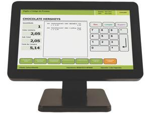"""Logic Controls LE1015W-J Black 15"""" USB Projected Capacitive Touch Monitor - 15"""" Wide Screen, True-flat, Projected Capacitive Touch, USB"""