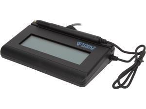 Topaz SignatureGem LCD 1x5 T-LBK462 Series Virtual Serial via USB BackLit T-LBK462-BSB-R Signature Capture Pad