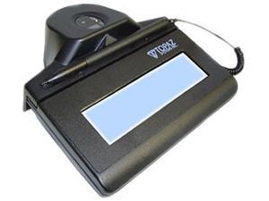 Topaz IDLite LCD 1x5 TF-LBK463 Series HID-USB Backlit TF-LBK463-HSB-R Signature Capture Pad with Integrated Fingerprint Sensor - Special Order Only, noncancellable, nonreturnable