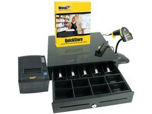Wasp 633808471408 Quickstore Rapid Start POS Solution - Point of Sale Software + Device
