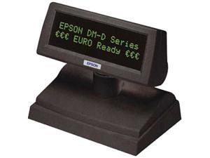 Epson DM-D110 Customer Display, 20-column x 2-line dot matrix, USB, SRL (Display), Dark Gray - A61B133712