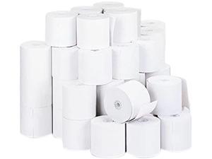 "Universal UNV32000 Impact & Inkjet Print Bond Paper Rolls, 0.5"" Core, 2.75"" x 190 ft, White, 50/Carton"