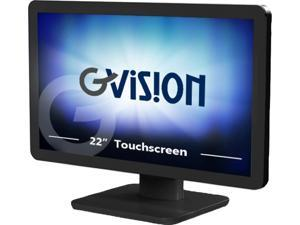 """Gvision D22,22"""" Widescreen POS LED Monitor with Projected Capacitive Touch, Black - D22ZD-AV-45P0"""