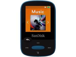 "SanDisk Clip Sport 1.44"" 8GB MP3 Player - Blue - SDMX24-008G-G46B"