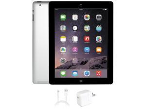 "Apple iPad 4 Apple A6X 1.40 GHz 1 GB Memory 16 GB Flash Storage 9.7"" 2048 x 1536 Tablet PC iOS 7 Black"