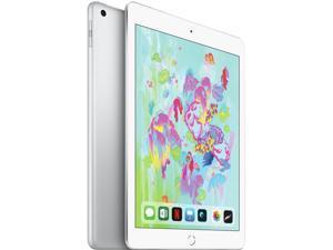 """Apple iPad 6th Gen MR7G2B/A Apple A10 Fusion 32 GB Flash Storage 9.7"""" 2048 x 1536 Tablet PC (Wi-Fi) iOS 11 Silver"""
