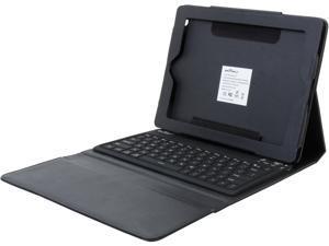 Seal Shield Silver Blue Glow Wireless Keyboard with Luxury Case for iPad