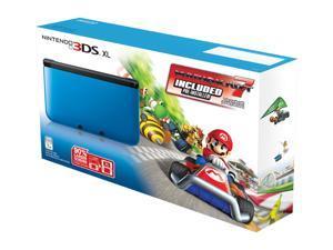 Nintendo 3DS XL Blue/Black System Bundle w/Mario Kart 7