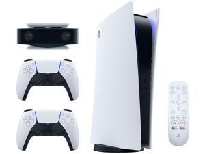 PS5 Bundle - Includes Playstation 5 Digital Console, DualSense Controller, HD Camera for PS5, and PlayStation Media Remote