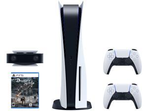 PS5 Bundle - Includes Playstation 5 Console, DualSense Controller, Demon's Souls, and HD Camera for PS5
