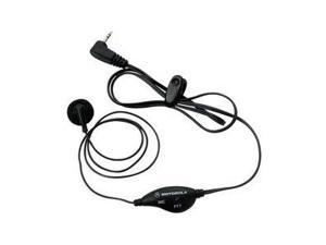 MOTOROLA Black Single-Pin Earbud With In-Line Microphone and PTT 53727