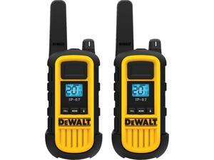 DEWALT FRS 2-Way 2-Watt Radio Set (2pack) - Waterproof and Dustproof (IP67), VOX and Vibration Mode, Shock-resistant, Heavy Duty, Construction Site, Retail, Warehouse, Hotel (DXFRS800)