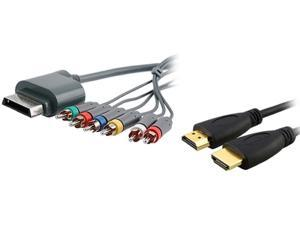 INSTEN 6Ft Hi-Speed HDMI Cable+RCA AV Component For Xbox360