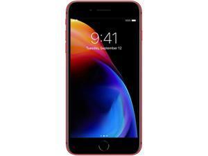 "Apple iPhone 8 Plus 4G LTE Unlocked GSM Phone w/ Dual 12 MP Camera - (Used) 5.5"" Red 256GB 3GB RAM"