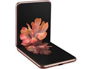 "Samsung Galaxy Z Flip 5G SM-F707WZNAXAC 5G Unlocked Cell Phone 6.7"" Mystic Bronze 256GB 8GB RAM"