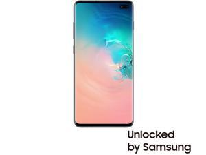 "Samsung Galaxy S10+ 4G LTE Unlocked Cell Phone 6.4"" Infinity Display Prism White 128GB 8GB RAM"