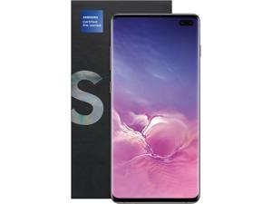 "Samsung Galaxy S10+ 4G LTE Fully Unlocked (Renewed) 6.4"" Prism Black 128GB 8GB RAM Samsung Certified Pre Owned"