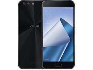 ASUS ZenFone 4, 5.5-inch, FHD IPS, 4GB RAM, 64GB storage Dual SIM, Unlocked Cell Phone, US/Canada Warranty, Midnight Black (ZE554KL-S630-4G64G-BK)