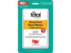 Total Wireless Keep Your Own Phone CDMA SIM Activation Kit (Triple Punch)