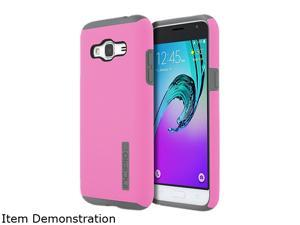 Incipio DualPro Pink/Grey Hard Shell Case With Impact-absorbing Core for Samsung Galaxy J3 SA-760-PKGY