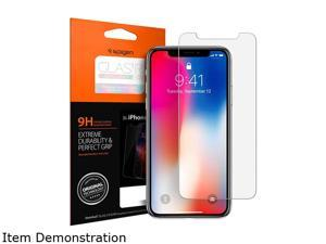Spigen Transparent Apple iPhone X Glas.tr Slim HD Premium Tempered Glass Screen Protector, Clear 057GL22586