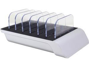 Trexonic TRX-USB61000SLVR Silver 10.2A 6-Port USB Charging Station with Brackets