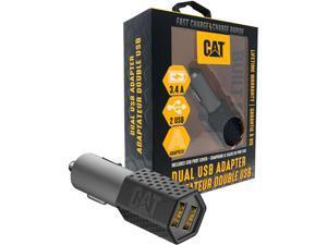 CAT CAT-DC2USB-BLK Black Dual USB DC Vehicle Adapter 3.4 Amp