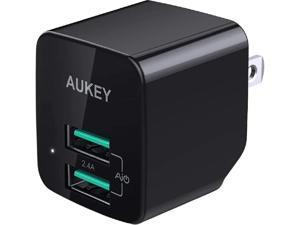 Aukey PA-U32 Black Ultra Compact Dual USB-A Wall Charger