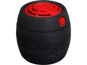 BeatBoom BB3000-BR Black/Red Portable Wireless Bluetooth Speaker with Built in Speakerphone