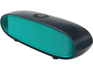 GOgroove BlueSYNC DRM Wireless Bluetooth Speaker with 10-Hour Rechargeable Battery and Integrated Microphone (Green)