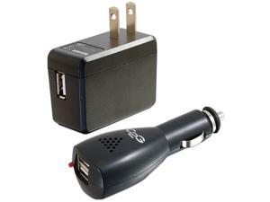 C2G / Cables To Go 22330 AC and DC to USB Travel Charger Bundle