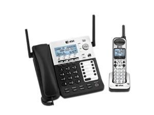 AT&T SB67138 1.9 GHz Digital DECT 6.0 1X Handsets 4-Line Corded/Cordless Small Business System Integrated Answering Machine