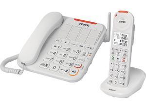 Vtech VTSN5147 DECT 6.0 Amplified Corded/Cordless Answering System with Big Buttons & Display