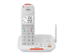 Vtech VTSN5127 Digital DECT 6.0 4X Handsets Amplified Cordless Answering System with Big Buttons & Display