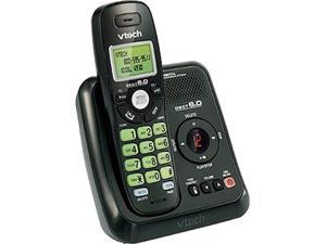 Vtech CS6124-11BK DECT 6.0 black Cordless Answering System with Caller ID Integrated Answering Machine