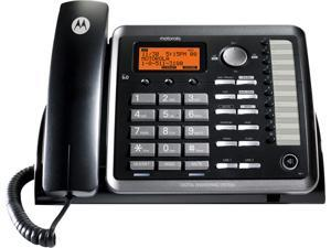 Telefield ML25254 2-line Operation Corded Phone, 2-Line, Black